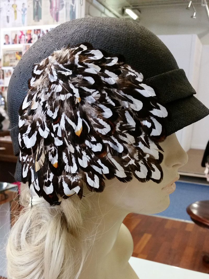 Cloche with Feathers $265