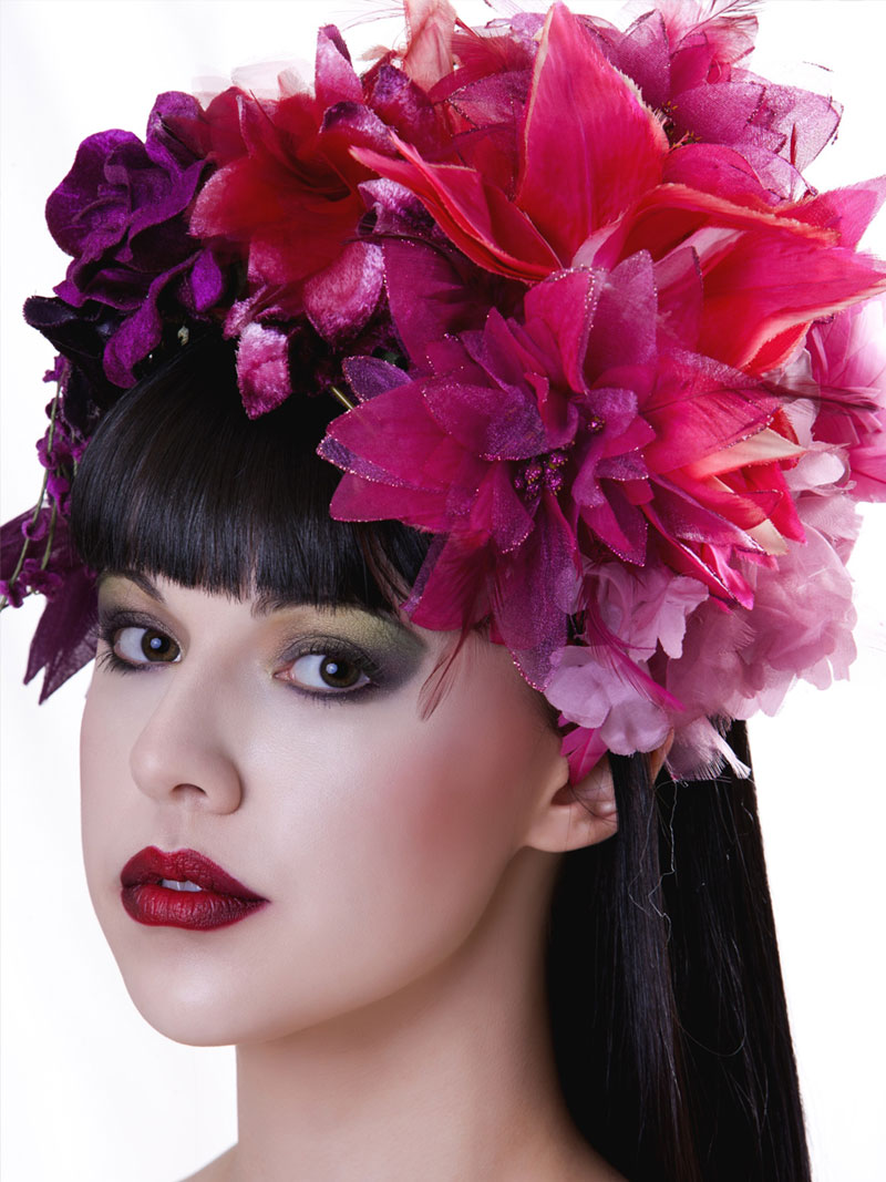 Floral Heapiece $300