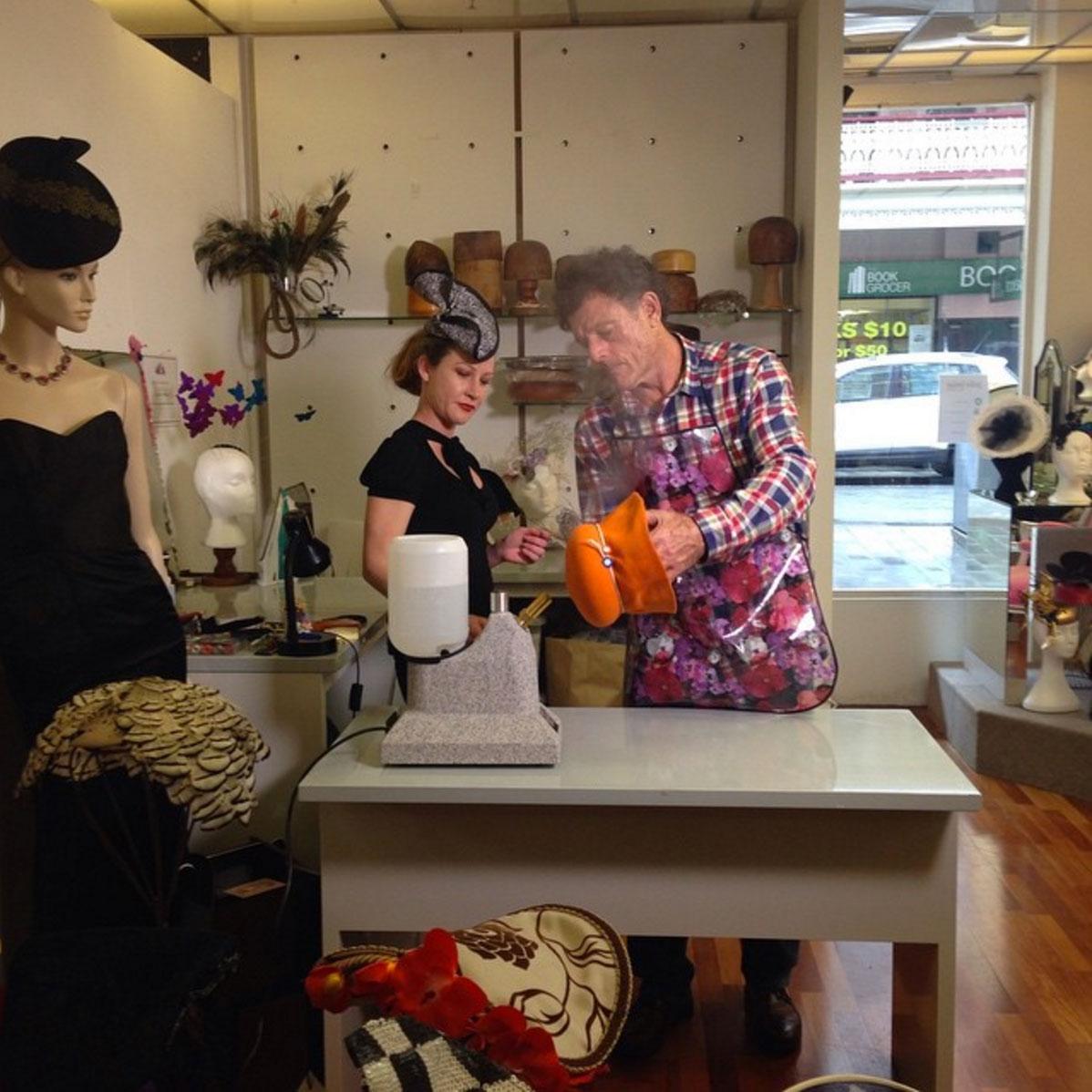 Sydney Weekender Visits Jodie Louise Millinery
