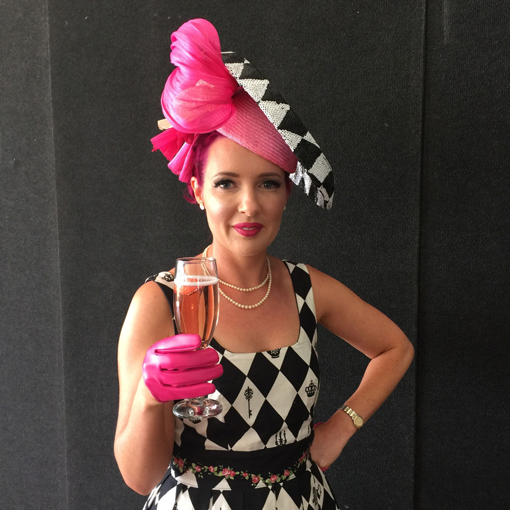 Laura at Newcastle Jockey Club's Ladies Day 17 September 2016. Placed in top 10 Millinery Award.